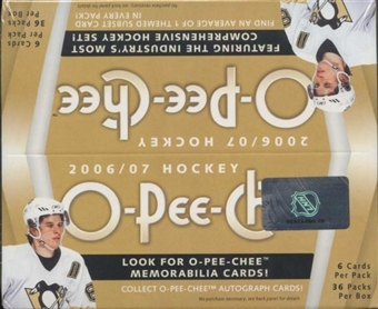 2006/07 Upper Deck O-Pee-Chee Hockey 36-Pack Box