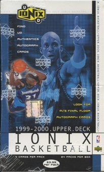 1999/00 Upper Deck Ionix Basketball Retail 24 Pack Box