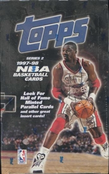 1997/98 Topps Series 2 Basketball Retail 36 Pack Box