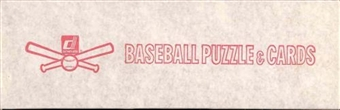1982 Donruss Baseball Factory 15 Set Case