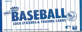 1982 Fleer Baseball Vending 24-Box Case