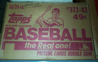 1982 Topps Baseball Cello 16-Box Case