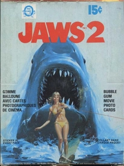 Jaws 2 Wax Box (1978 O-Pee-Chee)