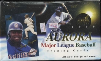 1999 Pacific Aurora Baseball Retail 24 Pack Box