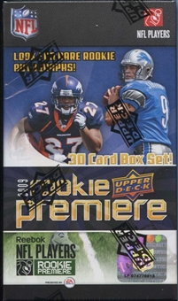 2009 Upper Deck Rookie Premiere Football Hobby Set (Box)