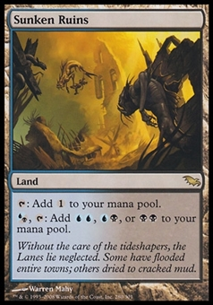 Magic the Gathering Shadowmoor Single Sunken Ruins FOIL - SLIGHT PLAY (SP)