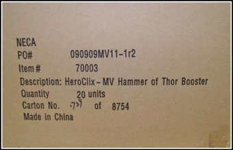 Marvel HeroClix Hammer of Thor Booster Case (20 Ct.)