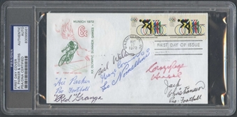 First Day Cover Signed by Multiple HOF's Parker Grange PSA/DNA *9561