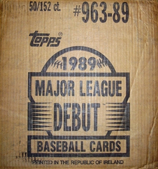 1989 Topps Debut Baseball Factory 50 Set Case