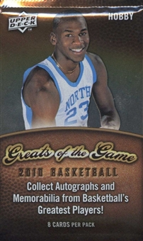 2009/10 Upper Deck Greats Of The Game Basketball Hobby Pack