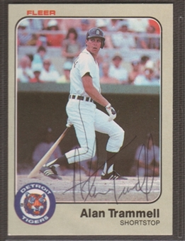 1983 Fleer Baseball #344 Alan Trammell Signed in Person Auto