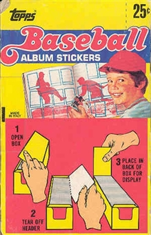 1983 Topps Baseball Album Stickers Box