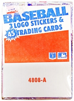 1986 Fleer Baseball Wax Rack Box
