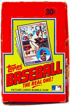 1983 Topps Baseball Wax Box - Rare Michigan Test !