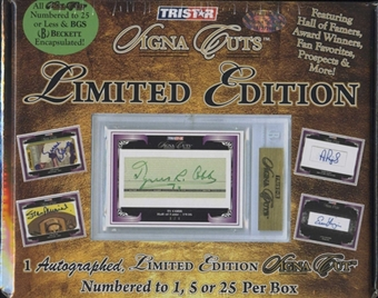 2009 TriStar Signa Cuts Limited Edition Baseball Hobby Box