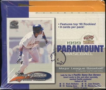 1999 Pacific Paramount Baseball Retail 20 Pack Box