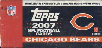 2007 Topps Football Factory Set (Box) (Chicago Bears)