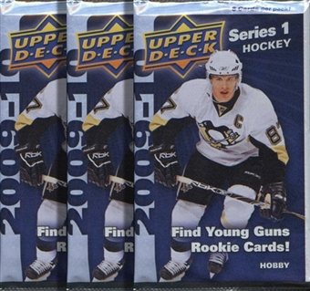 2009/10 Upper Deck Series 1 Hockey Hobby Pack (Lot of 3)