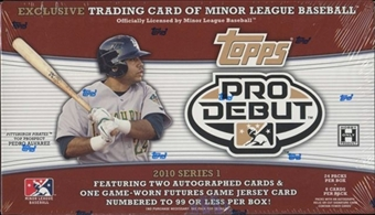 2010 Topps Pro Debut Series 1 Baseball Hobby Box