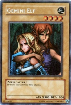Yu-Gi-Oh Labyrinth of Nightmare Single Gemini Elf Secret Rare (LON-000)