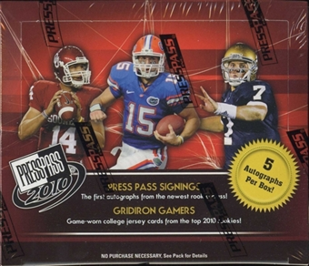 2010 Press Pass Football Hobby Box