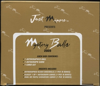 2009 Just Minors Mystery Balls Baseball Hobby Box