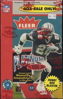 2003 Fleer Platinum Football Hobby Blaster 10 Pack Box