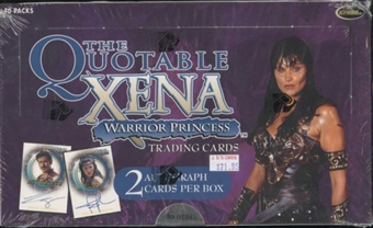 Xena Warrior Princess Quotable Trading Cards Box (Rittenhouse 2003)