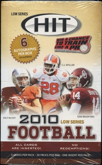 2010 Sage Hit Low Series Football Hobby Box