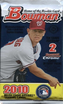2010 Bowman Baseball Hobby Pack
