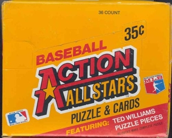 1984 Donruss Action All Stars Baseball Wax Box