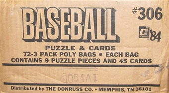 1984 Donruss Baseball 72-Pack Rack Case