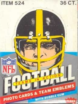 1984 Fleer in Action Football Wax Box