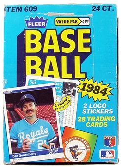 1984 Fleer Baseball Cello Box