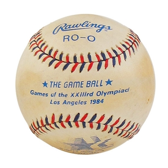 1984 Los Angeles Summer Olympics Official Rawlings Baseball