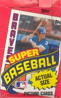 1984 Topps Super Baseball Wax Box