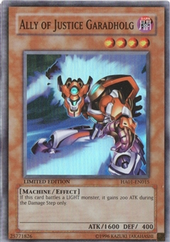 Yu-Gi-Oh Hidden Arsenal Single Ally of Justice Garadholg Super Rare