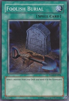 Yu-Gi-Oh Turbo Pack 2 Single Foolish Burial Super Rare
