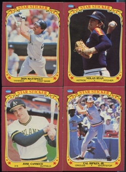 1986 Fleer Baseball Sticker Cards Complete Set (NM-MT)