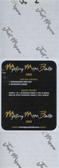 2008 Just Minors Mystery Mini-Bat Baseball Hobby Box