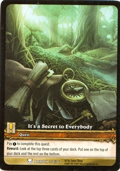 WoW Azeroth Single Extended Art It's A Secret to Everybody (EA) (NM/MT)