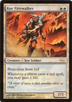 Magic the Gathering Promo Single Kor Firewalker DCI Foil