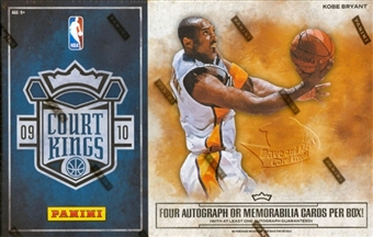 2009/10 Panini Court Kings Basketball Hobby Box