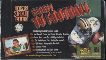 1996 Topps Stadium Club Series 1 Football Jumbo Box