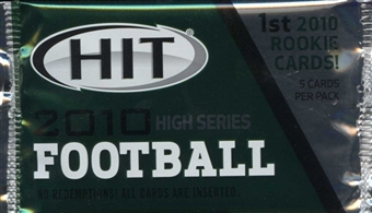 2010 Sage Hit High Series Football Hobby Pack