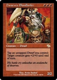 Magic the Gathering Judgment Single Dwarven Bloodboiler UNPLAYED (NM/MT)