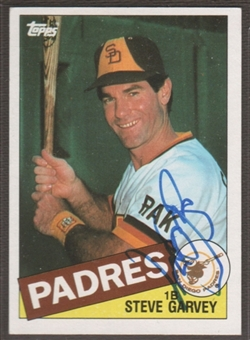 1985 Topps Baseball #450 Steve Garvey Signed in Person Auto