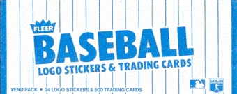 1985 Fleer Baseball Vending 24-Box Case