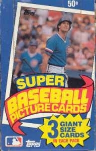1985 Topps Super Baseball Wax Box