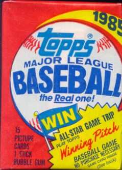 1985 Topps Baseball Wax Pack